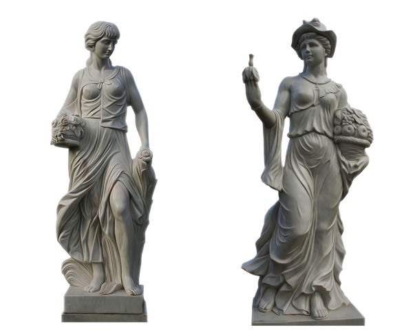 (2) Lady Statues Part 2 PNG