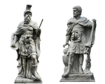 (2) Male Statues Part 1 PNG