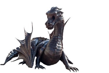Dragon Statue PNG by chaseandlinda