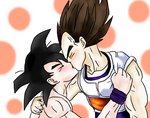Goku x Vegeta Kiss