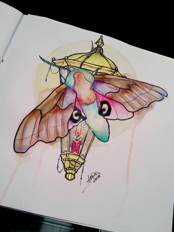 Rainbow moth by AshiMonster