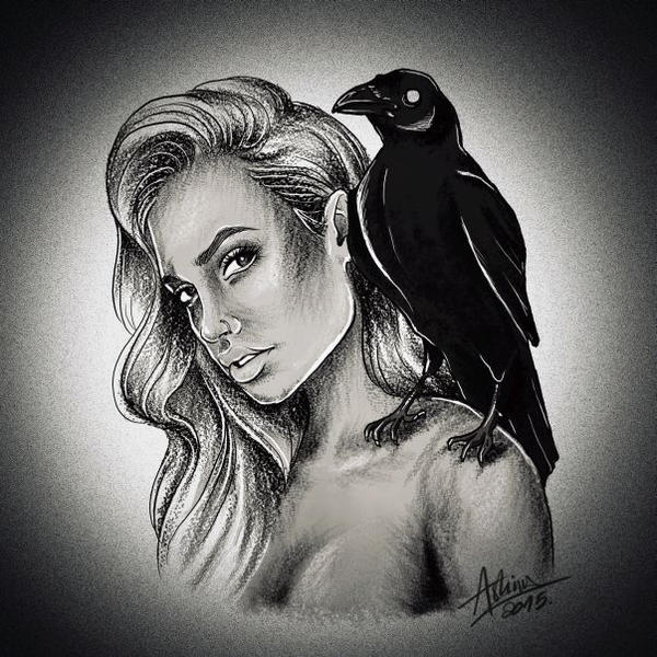 Crow lady by AshiMonster
