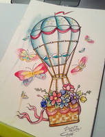 hot air balloon by AshiMonster