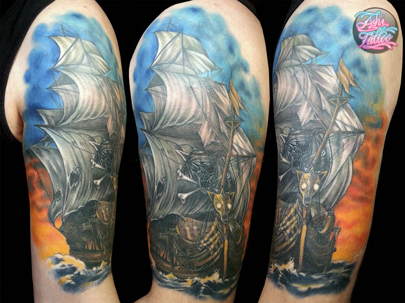 Healed ship by AshiMonster