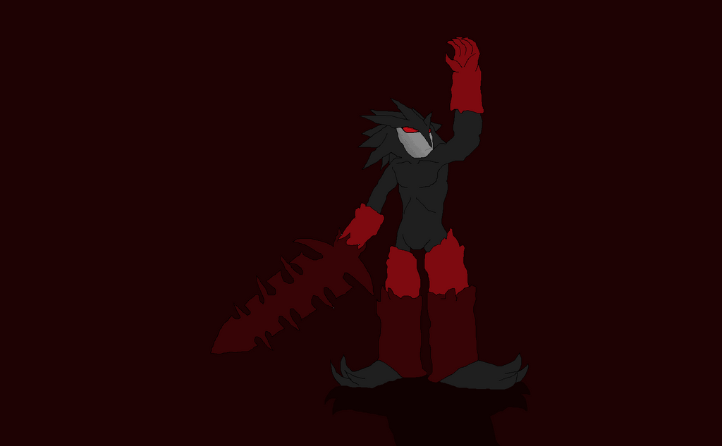 Darkin Lord Aatrox in Paint pt. 1 by shadmart