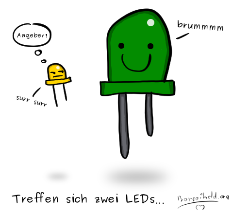 Treffen sich zwei LEDs... by Bonsaiheld