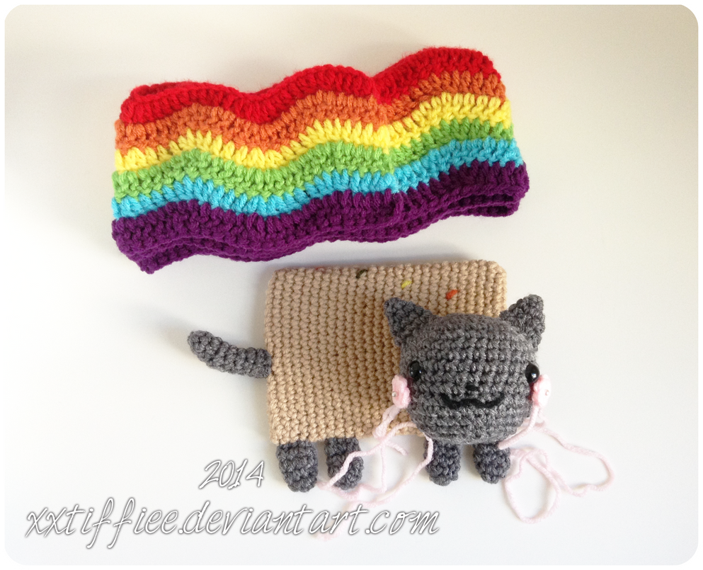 Nyan Cat Scarf Crochet Pattern Free : Nyan Cat Scarf WIP by xxtiffiee on deviantART