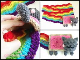 Nyan Cat Scarf by xxtiffiee
