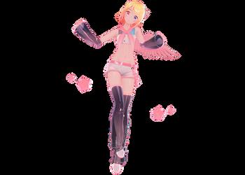 Rin (electric angel YYB) MMD by snolar