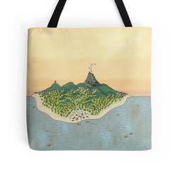 Asian Inspired Cartography - Island