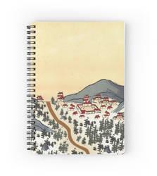 Asian Inspired Cartography - Mountain Pass