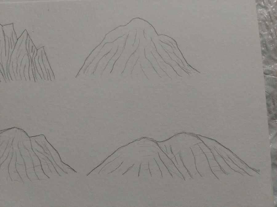 Concept Drawings Mountains 1 By Charleswaynerobinson On