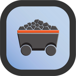 Coal Icon - 192 pixels by CharlesWayneRobinson