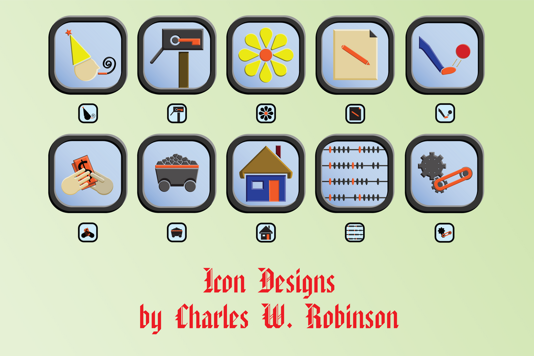 Icon Set by CharlesWayneRobinson