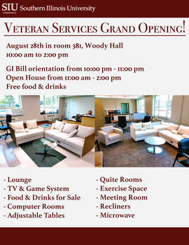 Veteran Services Grand Opening Flyer