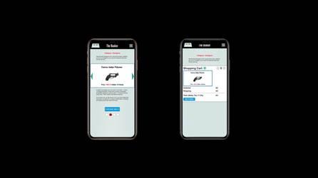 Axure Store App - Handgun w. Shotgun Rounds