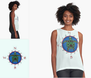 RedBubble Products - Clothing-Turtle Compass Rose