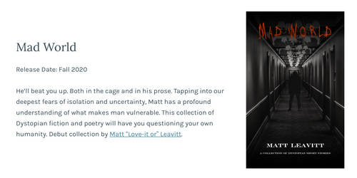 Mad World - Book Cover Design - Release Date