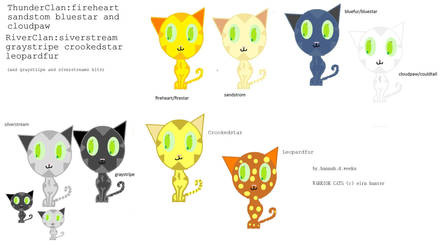 more warriorcats made on paint by warriorcats123