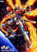 Kamiki Burning Gundam by Dij-Art