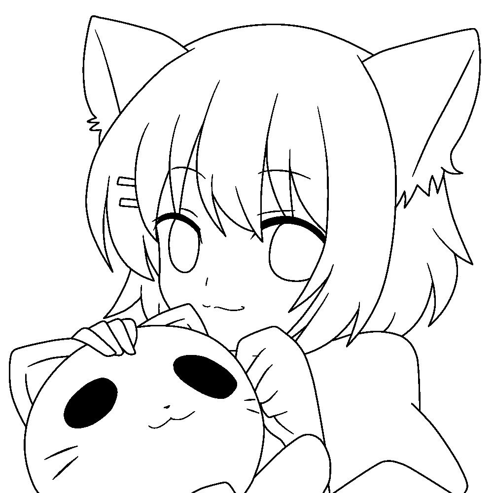 Neko Lineart : Neko lineart by notheryne on deviantart