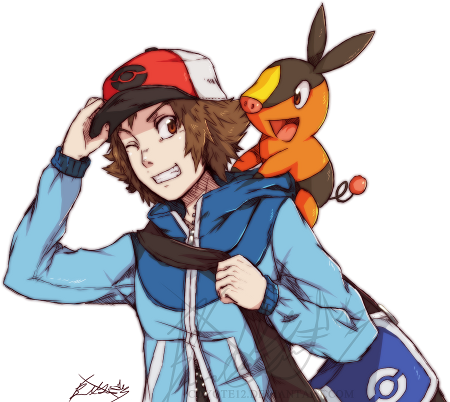 Hilbert and Tepig by KAZECoyote on DeviantArt