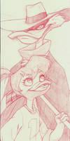 Darkwing Dad Sketch by Nervousgamer