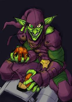 Green Goblin done quick + speedpaint