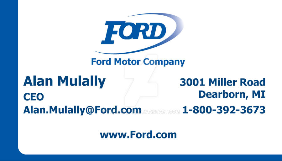 Ford business card front by theonlyfoo on deviantart ford business card front by theonlyfoo colourmoves