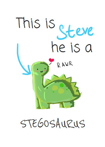 Steve the Stegosaurus by SurprisingFuzzyBeing