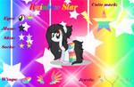 Rainbow Star OC Reference Sheet by lightningstar2003
