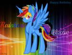 Happy birthday RainbowBlazie by lightningstar2003