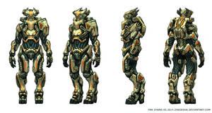 Alien Pilot Battle Suit by icedestroyer