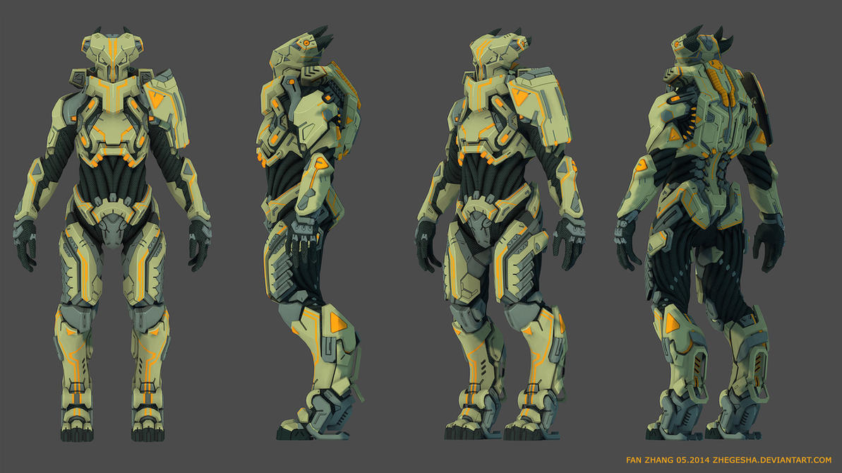 Alien Pilot Armor 3D by zhegesha
