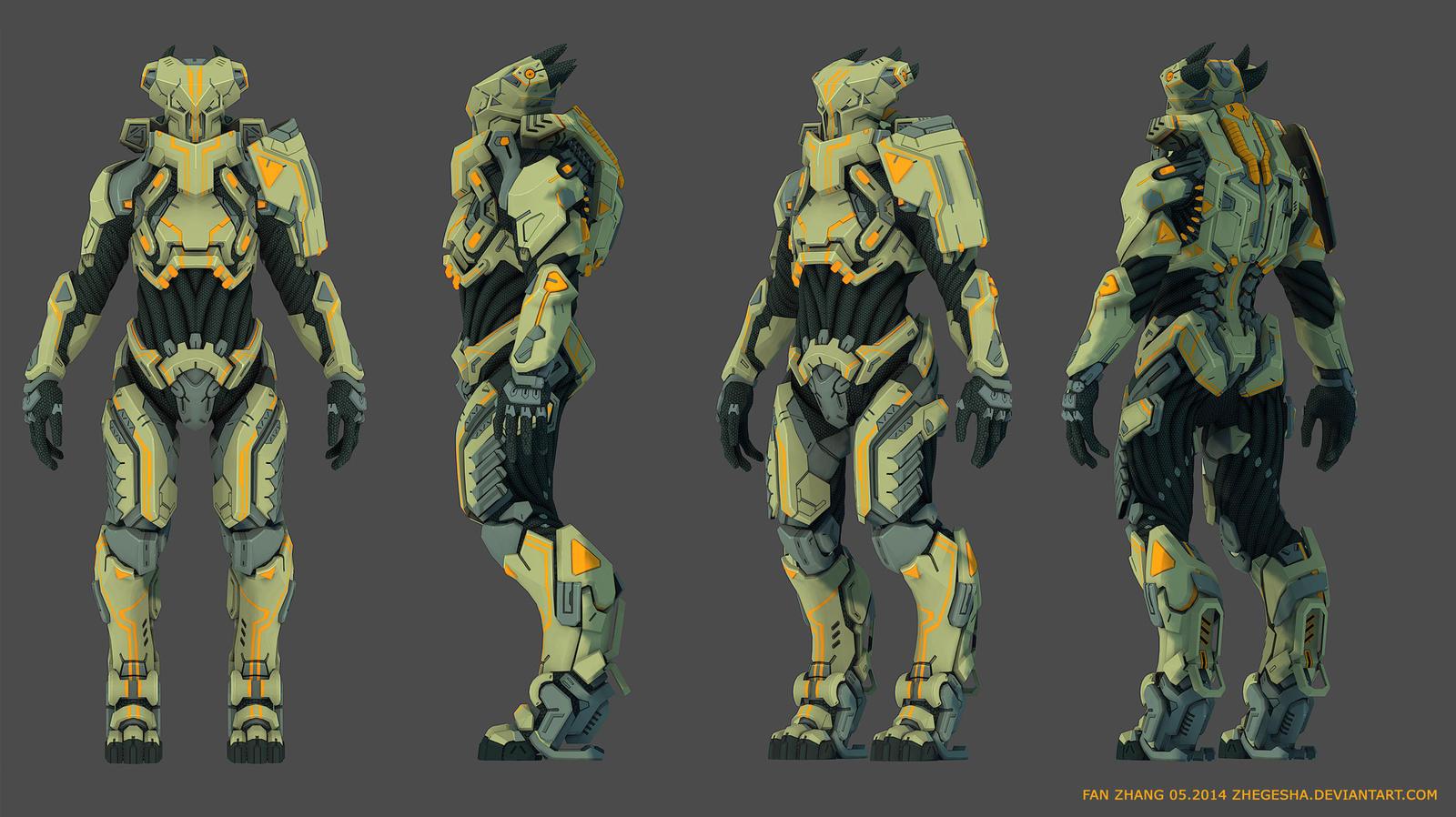 Alien Pilot Armor 3D by icedestroyer