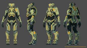 Alien Pilot Armor 3D