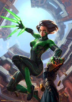 Green-Angel-Alita web by icedestroyer