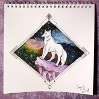 Galaxy wolf by saysly