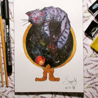Galaxy cat by saysly