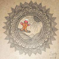 Mandala gingerbreadmen by saysly