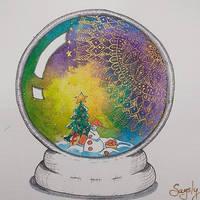 Mandala snowglobe by saysly