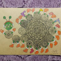 Mandala centipede by saysly