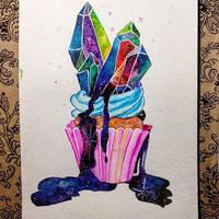 Galaxy cupcake by saysly