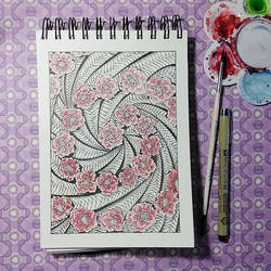 Spiral of roses