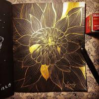 Golden chrysanthemum by saysly