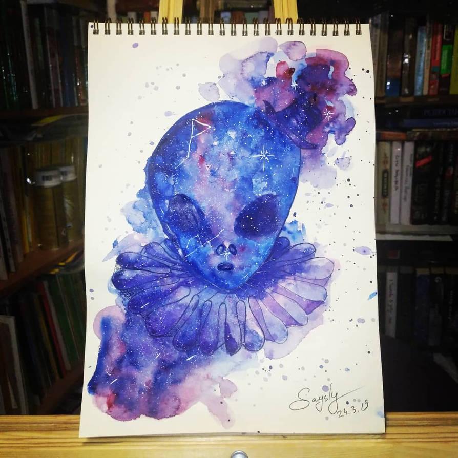 Alien Clown by saysly