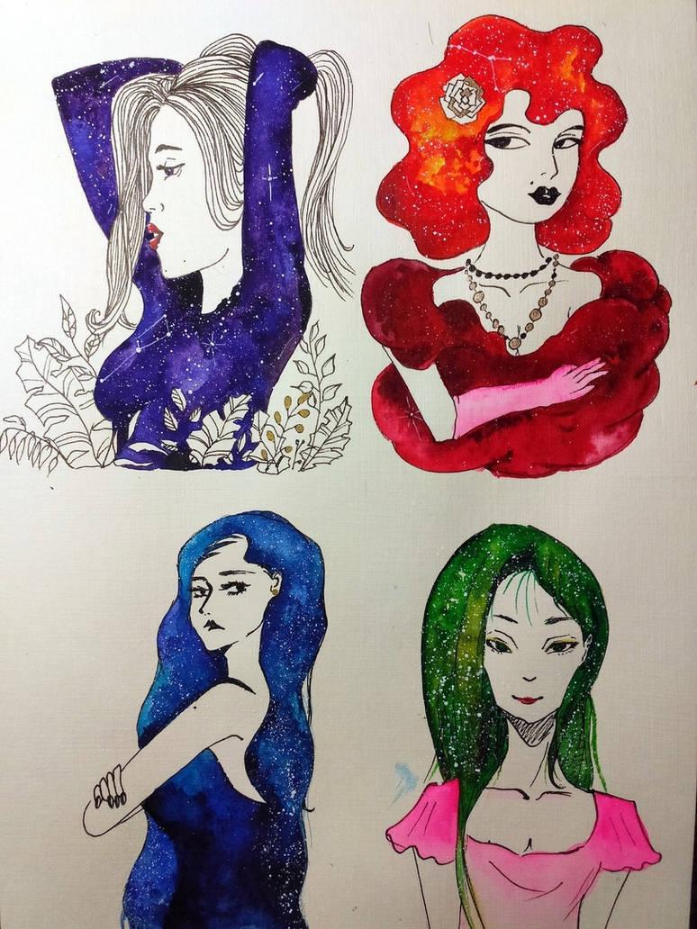 Galaxy ladies by saysly