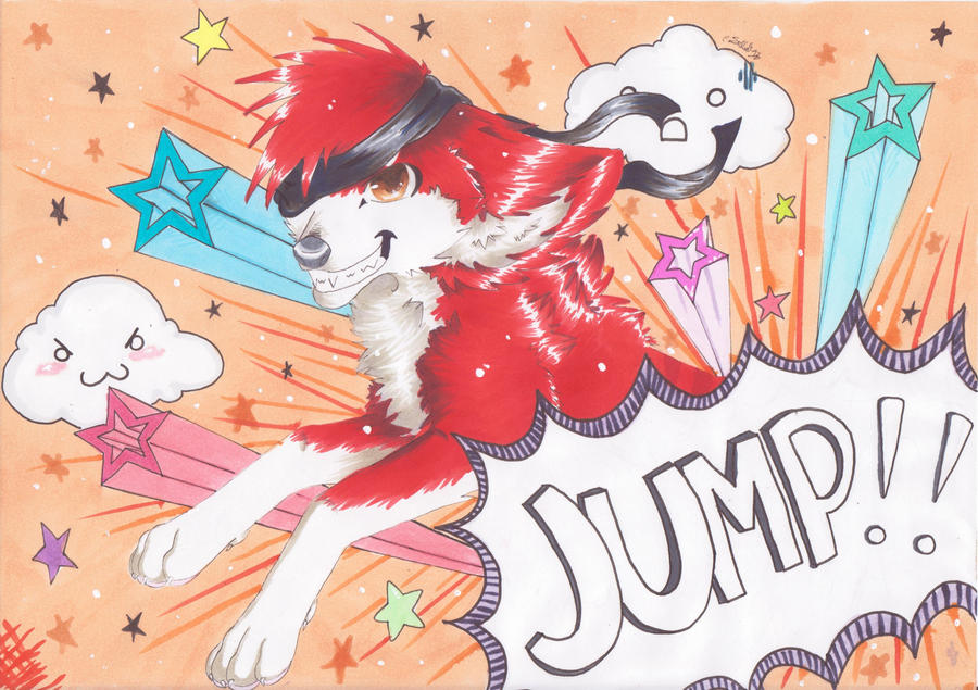 JUMP!! - Art Trade by Haddonfielder