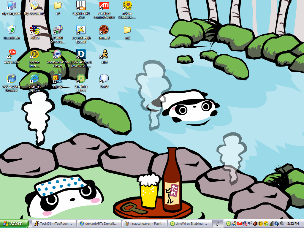 Desktop Tare Panda By Psychotic Chick9252