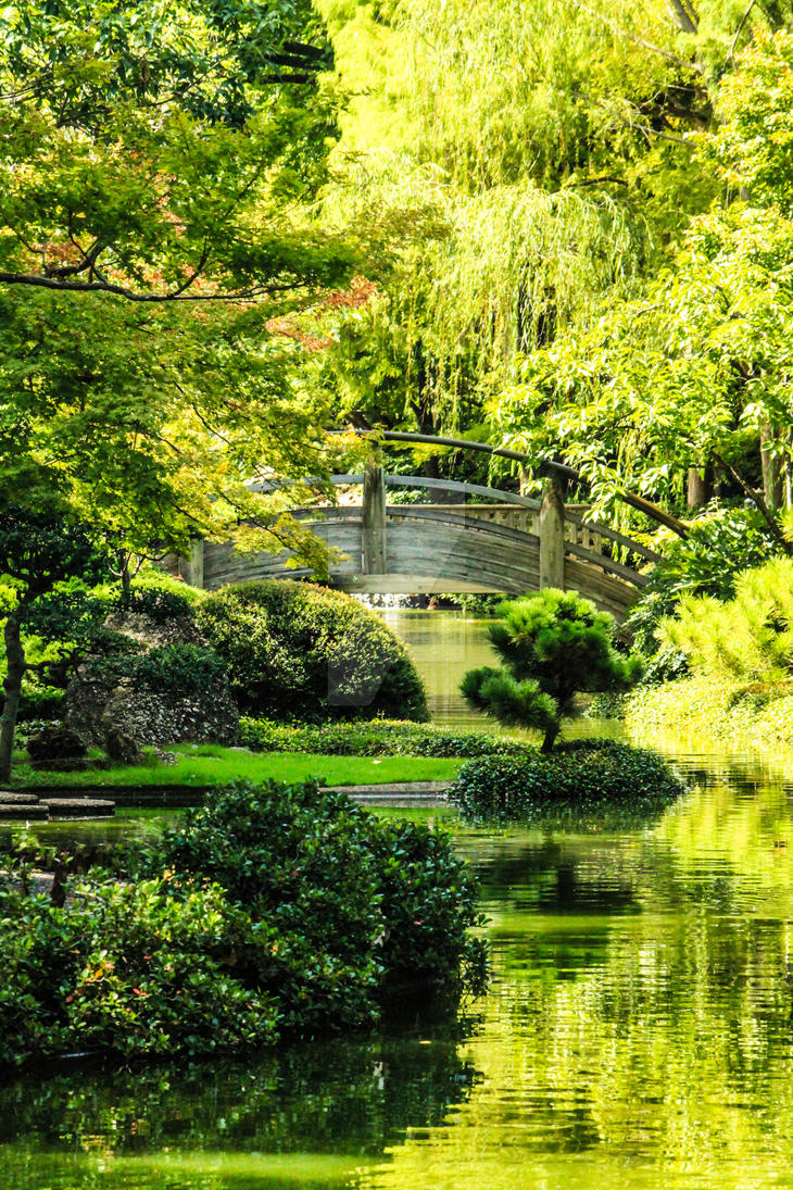 Japanese Garden At The Fort Worth Botanical Garden By